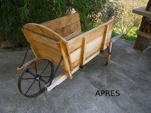 Pr sentation des autres r alisations en bois effectu es sur commande - Brouette bois decorative ...